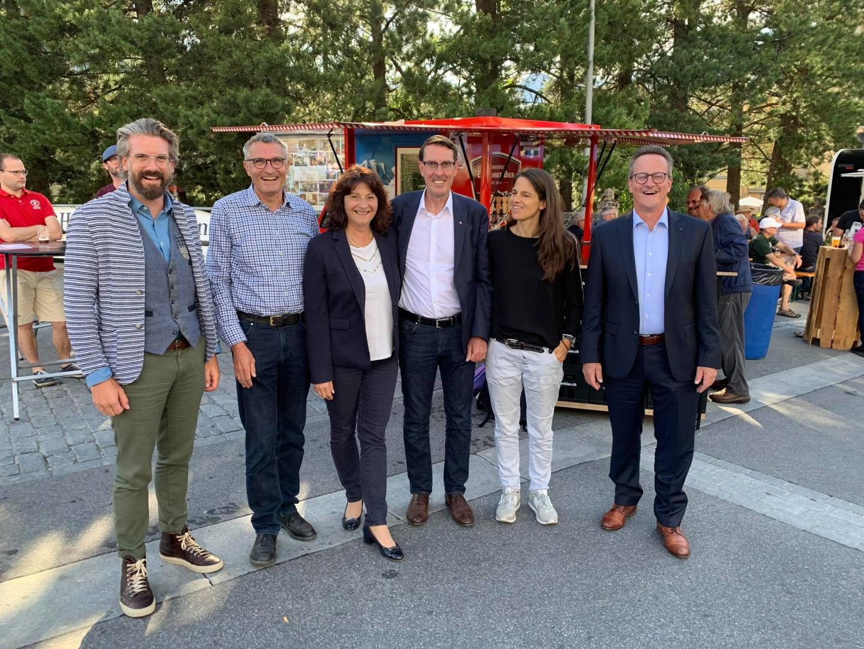 Team FDP beim Laret Markt in Pontresina